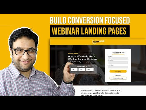 How to Build a Webinar Landing Page that gets Sign-ups